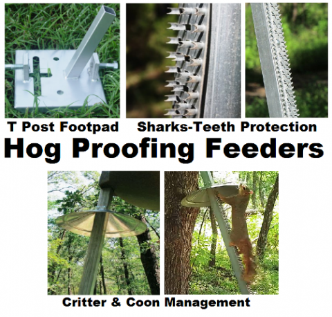 Hog-Proofing Your deer and Wildlife Feeders was once impossibe - not now according to BigDaddy at HuntSports