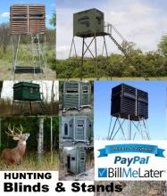 Whitetail Hunters Use PayPal and Get Six (6) Months No Interest Financing on Deerblinds, Stands and Shooting Towers at HuntSports.