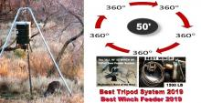 Best of 2019 Whitetail Deer Feeders - Best Throw and Feed Dispersion and best Overall Investment for trophy Hunters.