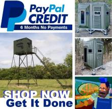 ATTENTION HUNTERS! Deer Blinds Stands Shooting Towers - No Interest For Six 6 Months With PayPal Credit