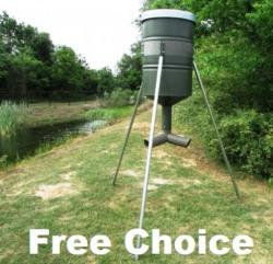 Free Choice Protein Feeder | Tripod Style Three Way Head